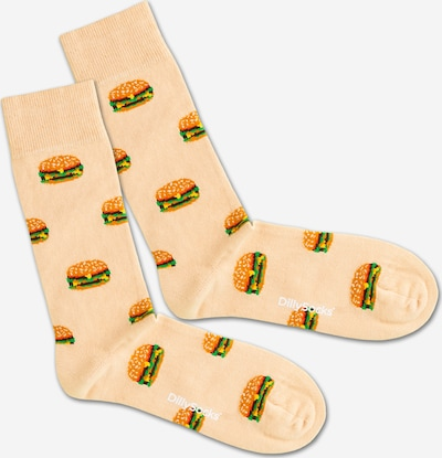 DillySocks Nogavice 'Big Burger' | mešane barve barva, Prikaz izdelka