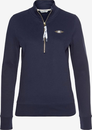 Tom Tailor Polo Team Sweatshirt in navy / weiß, Produktansicht
