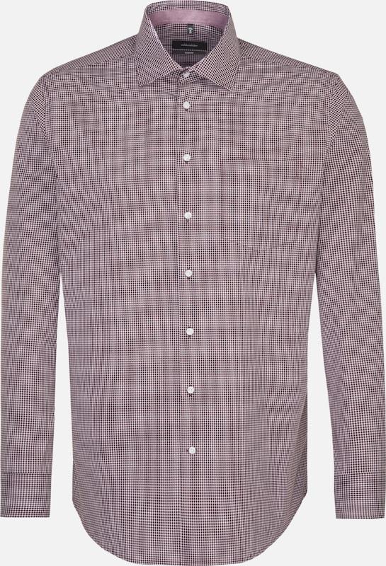 SEIDENSTICKER Hemd in burgunder   weiß  Markenkleidung für Männer und Frauen