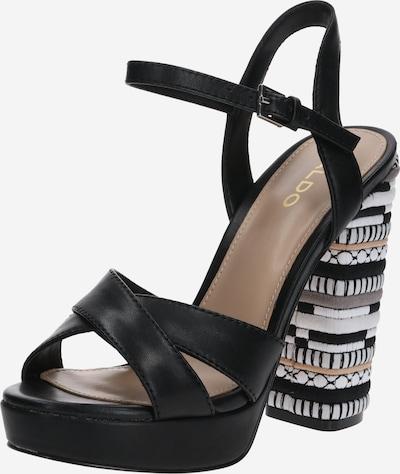 ALDO Sandales à lanières 'VELLANVRANE' en mélange de couleurs / noir, Vue avec produit