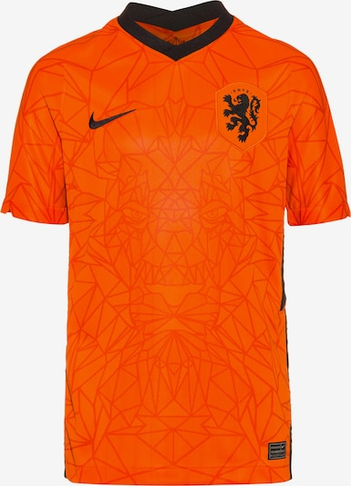 NIKE Fußballtrikot 'Niederlande 2021' in neonorange / schwarz, Produktansicht