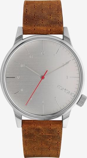 Komono Uhr 'Winston Walnut KOMW2103' in braun / silber / weiß, Produktansicht