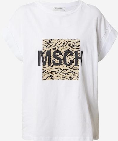 MOSS COPENHAGEN Shirt 'Alva' in beige / schwarz / weiß, Produktansicht