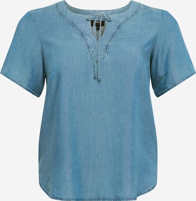 Zizzi Shirt 'Delia' in blue denim, Produktansicht