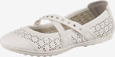 Be Mega Ballerinas in weiß, Produktansicht
