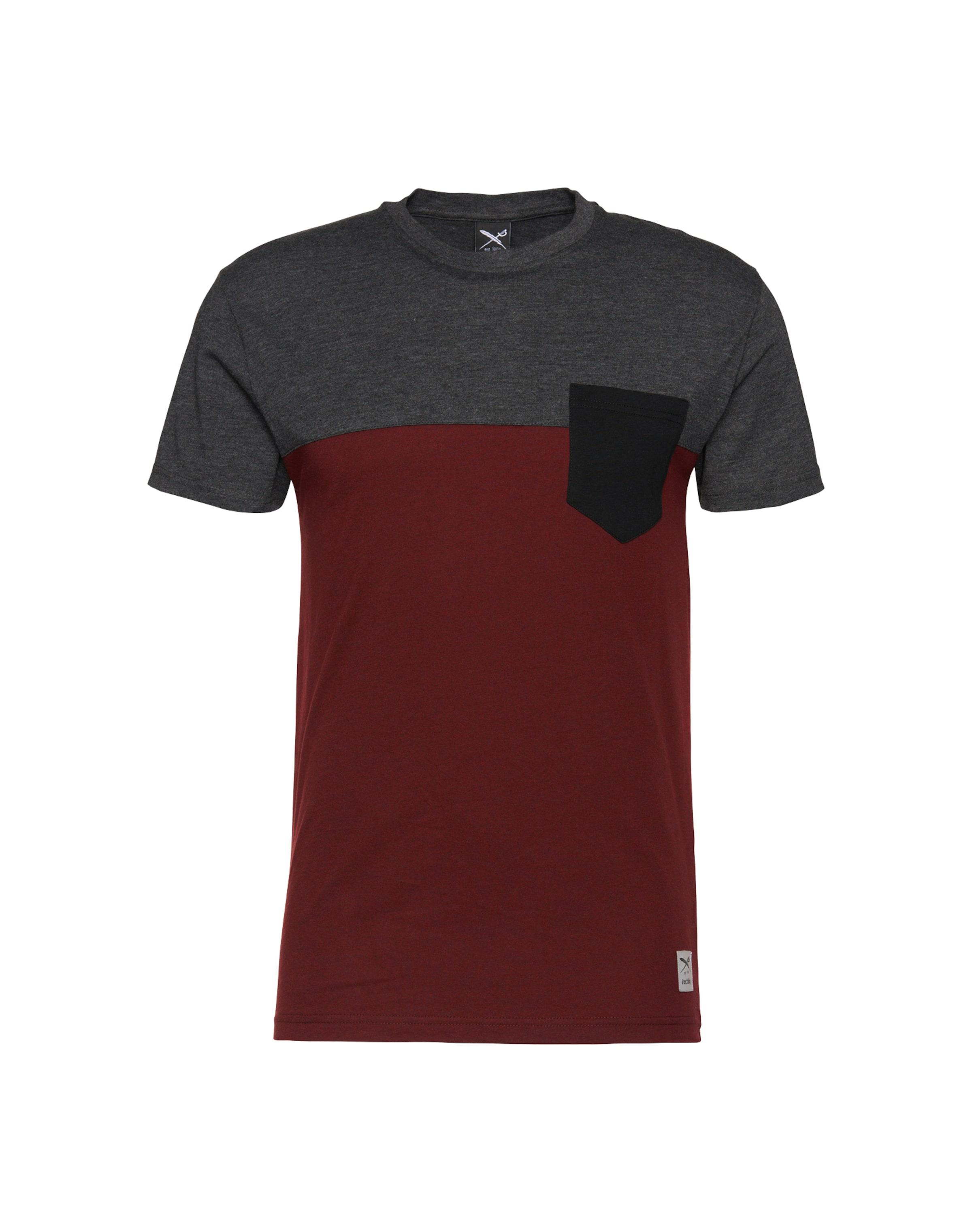 shirt T In Iriedaily shirt DunkelgrauWeinrot Iriedaily T 6gybY7f