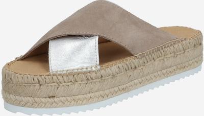 espadrij l´originale Sandale 'Croisette' in beige / silber, Produktansicht