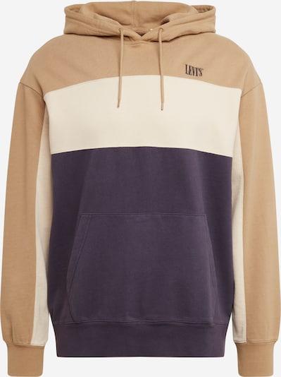LEVI'S Sweat-shirt en beige / bleu fumé / blanc, Vue avec produit
