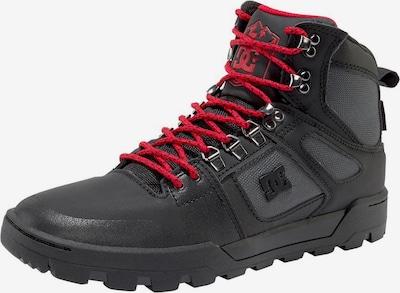 DC Shoes Schnürstiefel in basaltgrau / feuerrot / schwarz, Produktansicht