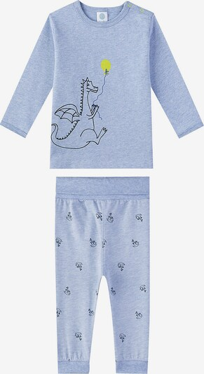 SANETTA Schlafanzug 'Drache' in rauchblau / nachtblau: Frontalansicht