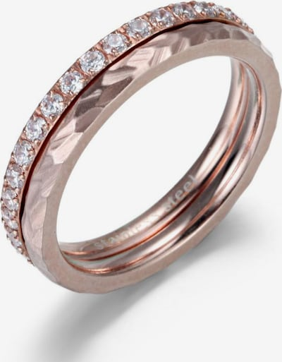 FIRETTI Ring-Set in rosegold / transparent, Produktansicht