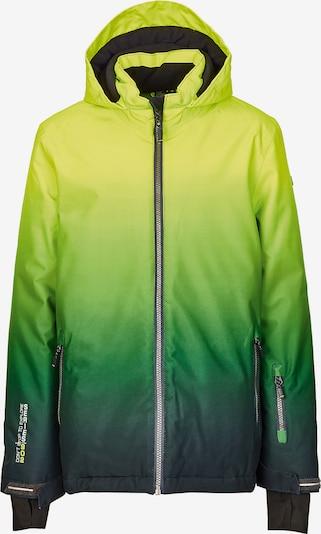KILLTEC Skijacke 'Pendaro' in gelb / dunkelgrün, Produktansicht