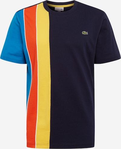 LACOSTE Tričko - námořnická modř / nebeská modř / žlutá / červená: Pohled zepředu