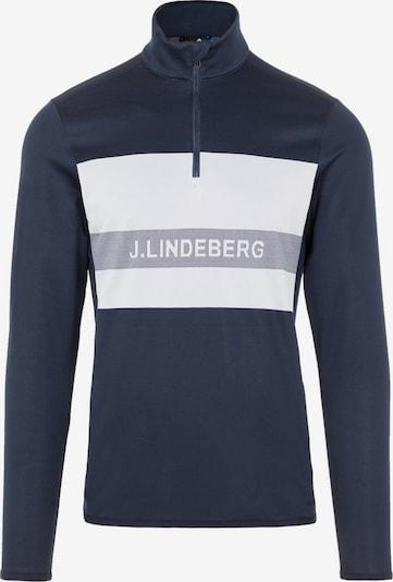 J.Lindeberg Golf Shirt  'Ari Quarter Zip' in blau / grau / weiß, Produktansicht