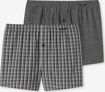SCHIESSER Boxershorts in de kleur Grijs / Donkergrijs / Zwart, Productweergave