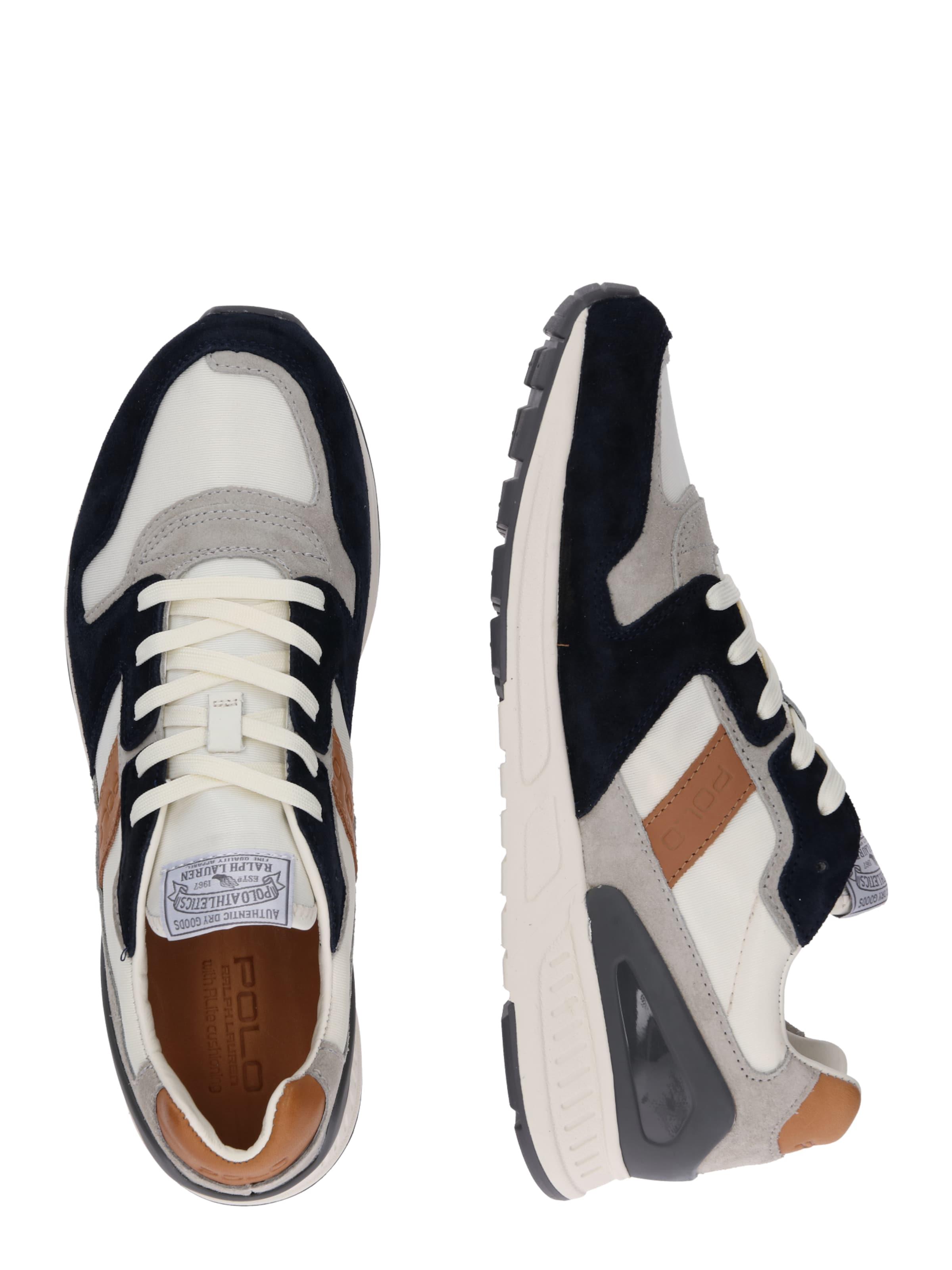 100 Polo Nylon' 'train NavyHellbraun Sneaker Ralph In Naturweiß Lauren H2E9eYWbID