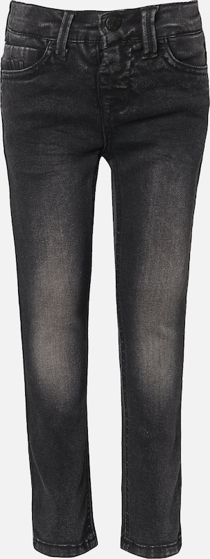 NAME IT Hose 'THEO' in black denim: Frontalansicht