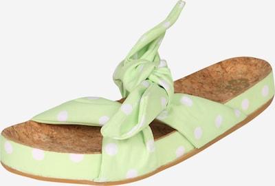 SCOTCH & SODA Чехли 'Yolin' в светлозелено / бяло, Преглед на продукта