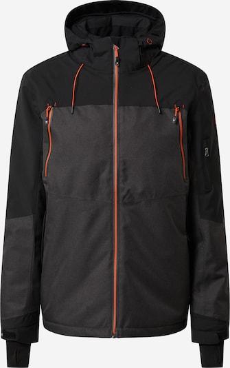 KILLTEC Outdoor jakna 'Combloux' u siva melange / neonsko narančasta / crna, Pregled proizvoda