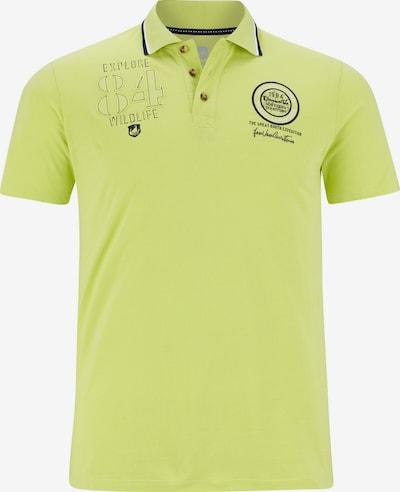 Jan Vanderstorm T-Shirt 'Haraldur' en bleu foncé / jaune fluo: Vue de face