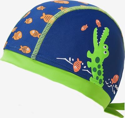 PLAYSHOES Kopftuch 'Krokodil' mit UV-Schutz in blau / grün, Produktansicht