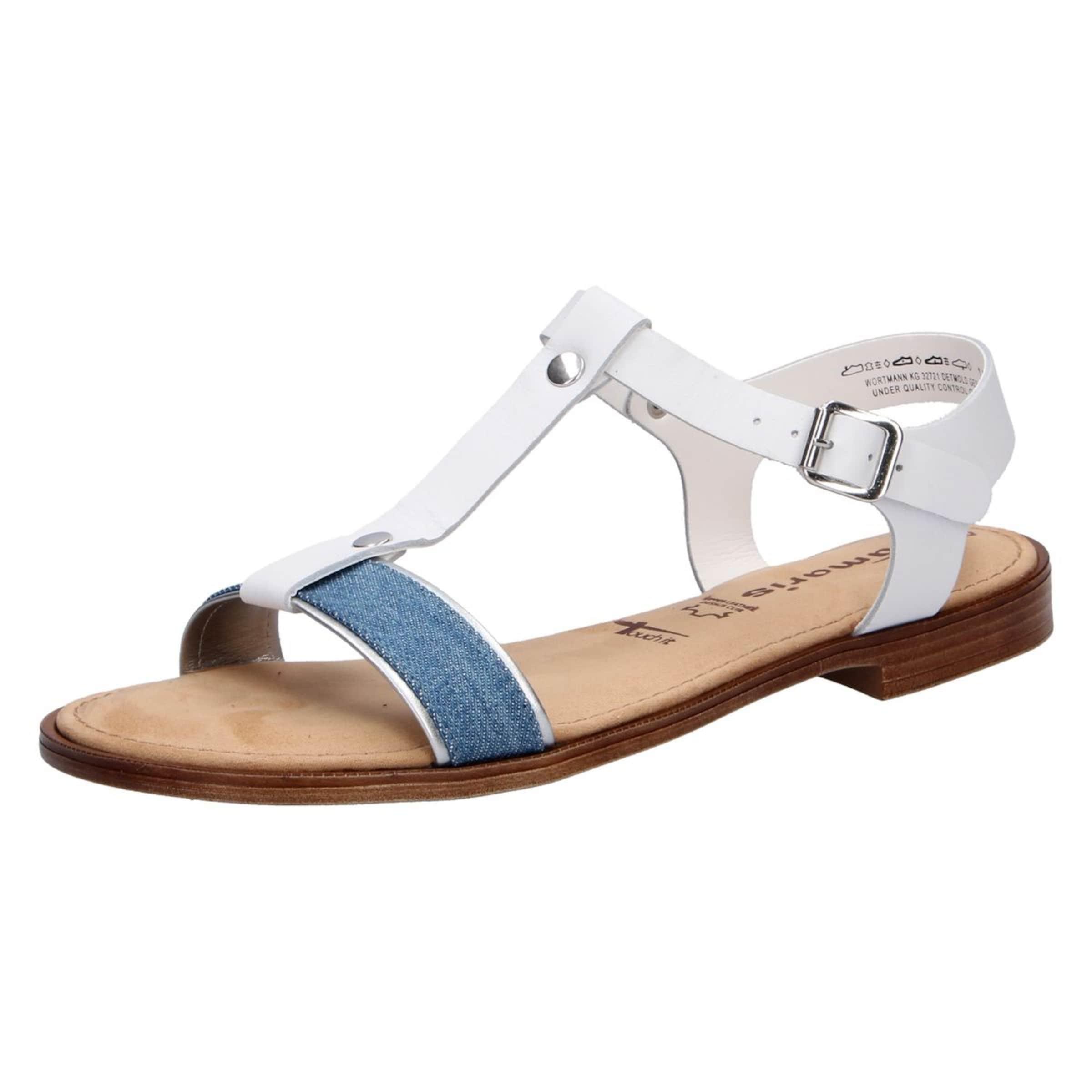 Blue Tamaris Sandalen Sandalen In DenimWeiß In Tamaris Blue In Sandalen DenimWeiß Tamaris Blue OPiTZukX