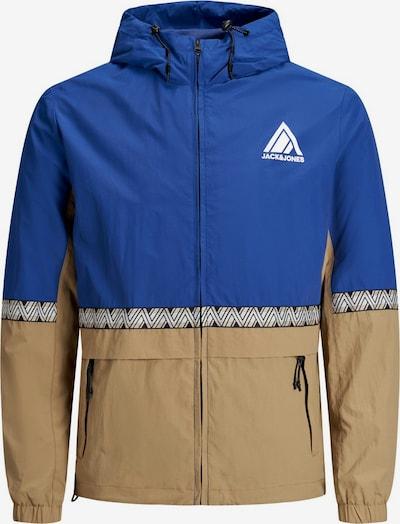 JACK & JONES Jacke in beige / blau, Produktansicht