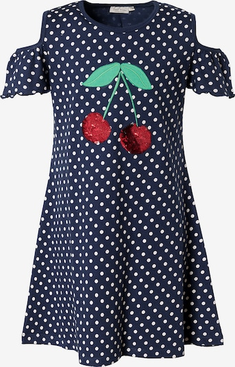myToys-COLLECTION Kleid in dunkelblau / grün / rot / weiß, Produktansicht