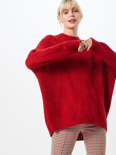 DRYKORN Sweter 'NANINA' w kolorze czerwonym, Podgląd na modelu(-ce)