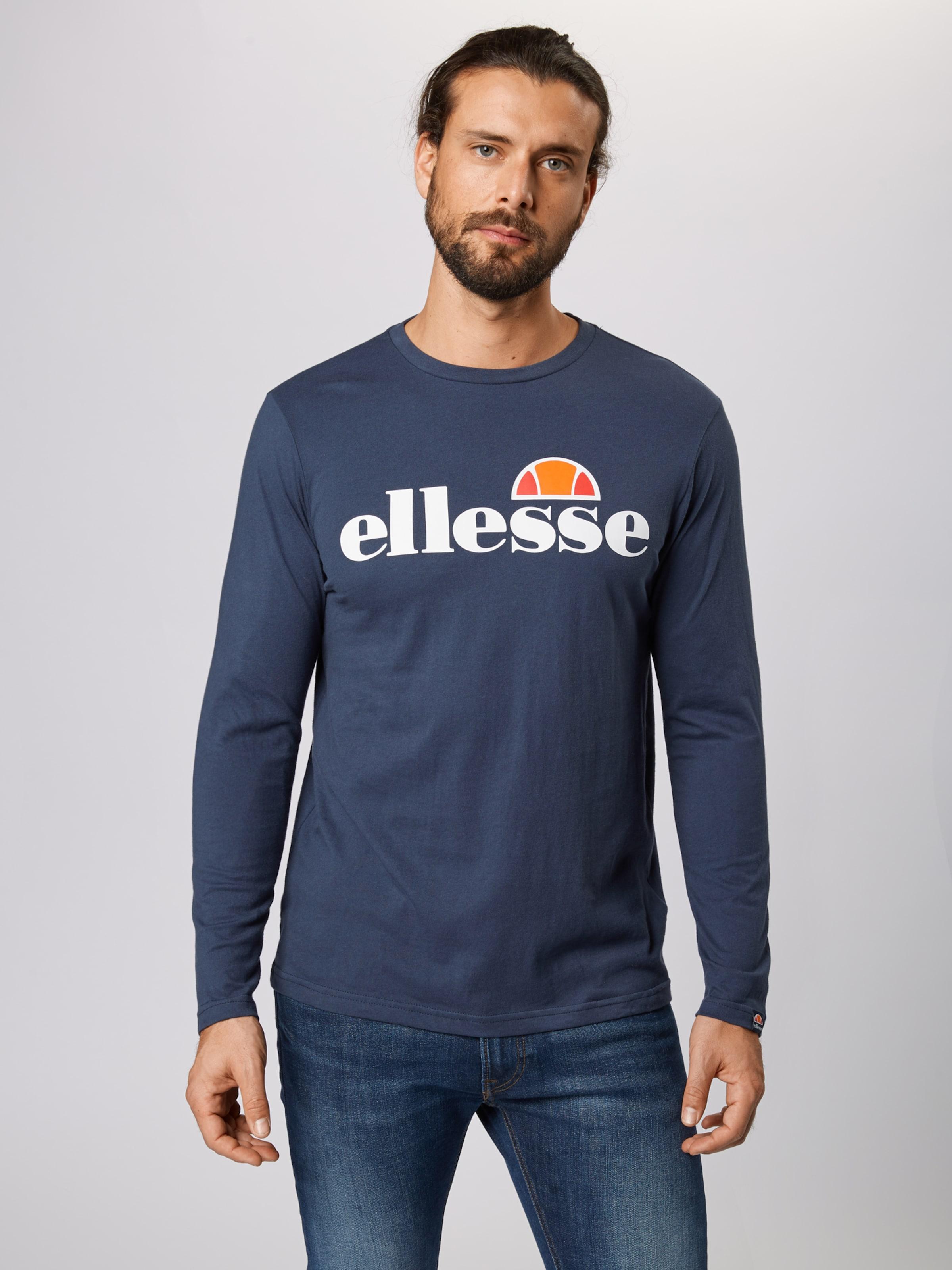 Ellesse 'small Logo Grazie' In Navy Langarmshirt uFKJlT35c1