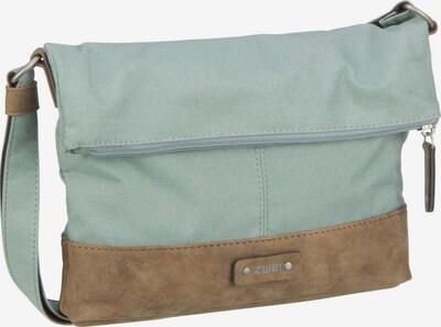 ZWEI Umhängetasche 'Olli OT6' in rauchblau / braun, Produktansicht
