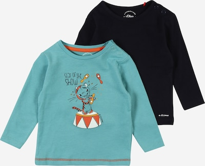 s.Oliver Shirt in marine / hellblau / orange / rostrot / schwarz, Produktansicht