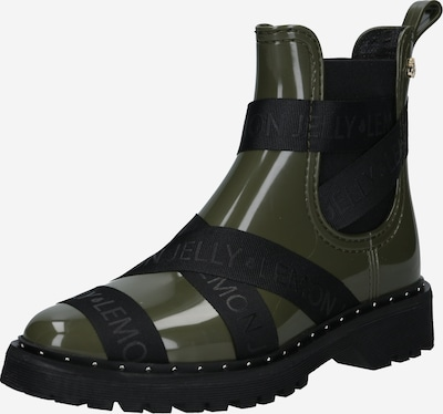 LEMON JELLY Gumijasti škornji 'FRANKIE' | temno zelena / črna barva: Frontalni pogled