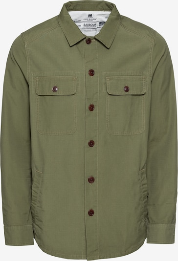 Barbour International Overhemd 'Smq Doc Overshirt' in de kleur Olijfgroen, Productweergave
