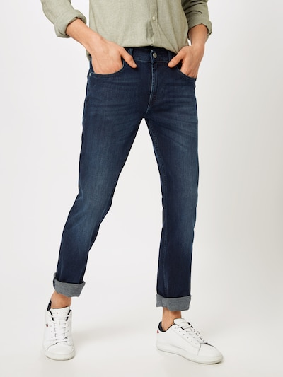 7 for all mankind Jeans 'SLIMMY LUXE PERFORMANCE' in blue denim: Frontalansicht