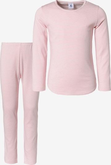PETIT BATEAU Schlafanzug in rosa / weiß, Produktansicht