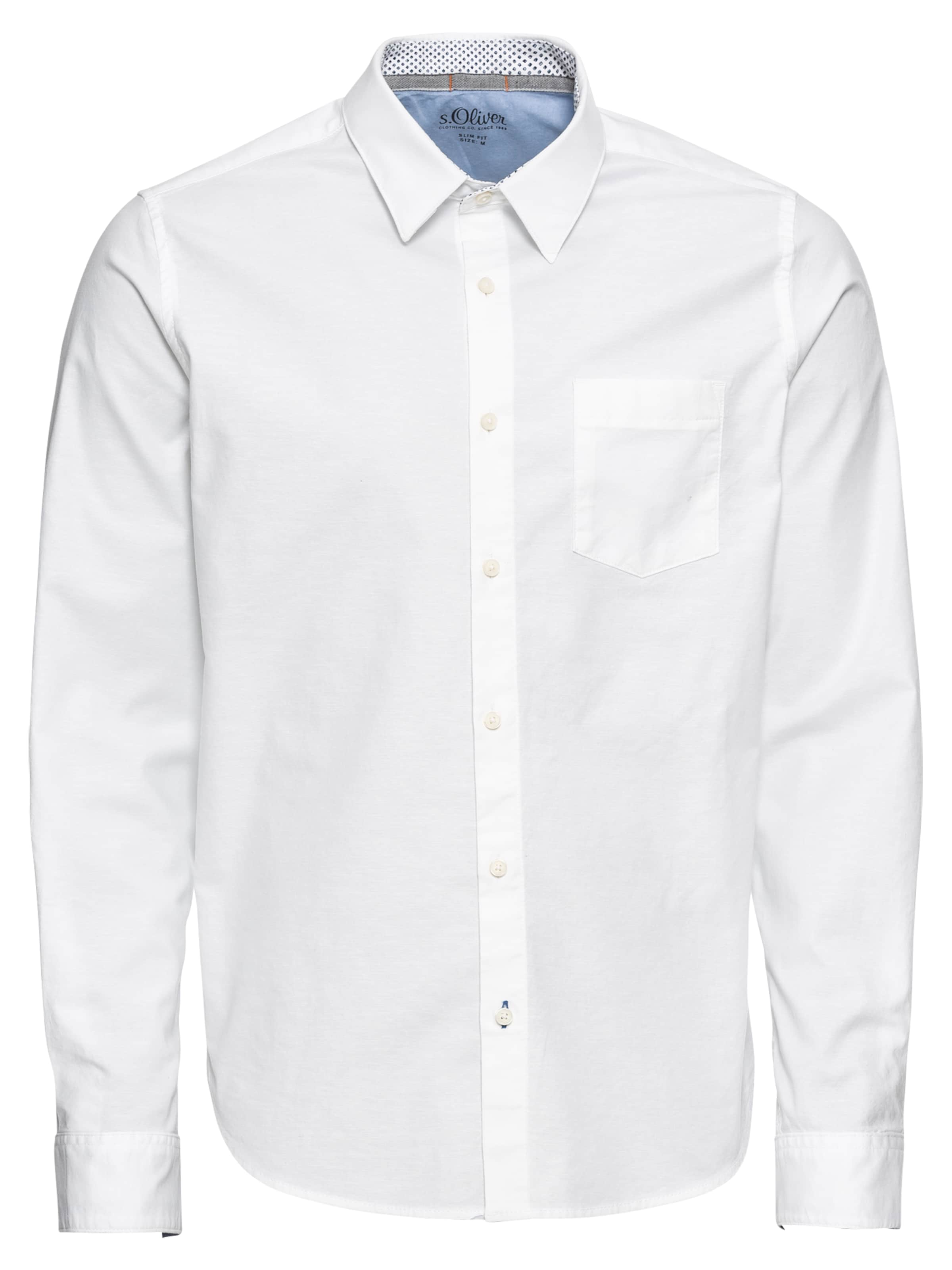 S Hemd S Hemd Weiß oliver S oliver In oliver In Weiß mNOn8wv0