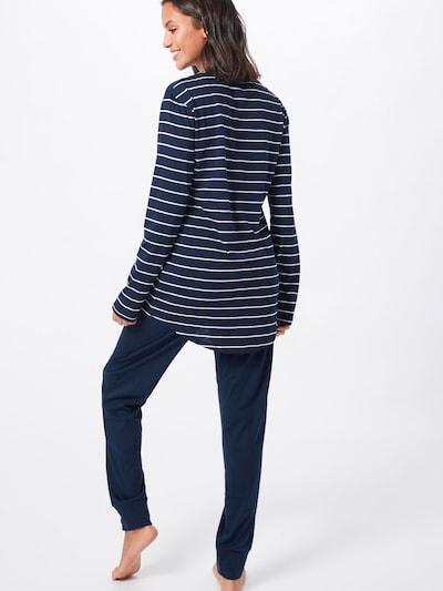 SCHIESSER Pyjama en bleu nuit: Vue de dos