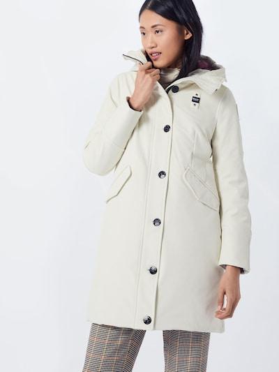 Blauer.USA Mantel in weiß, Modelansicht