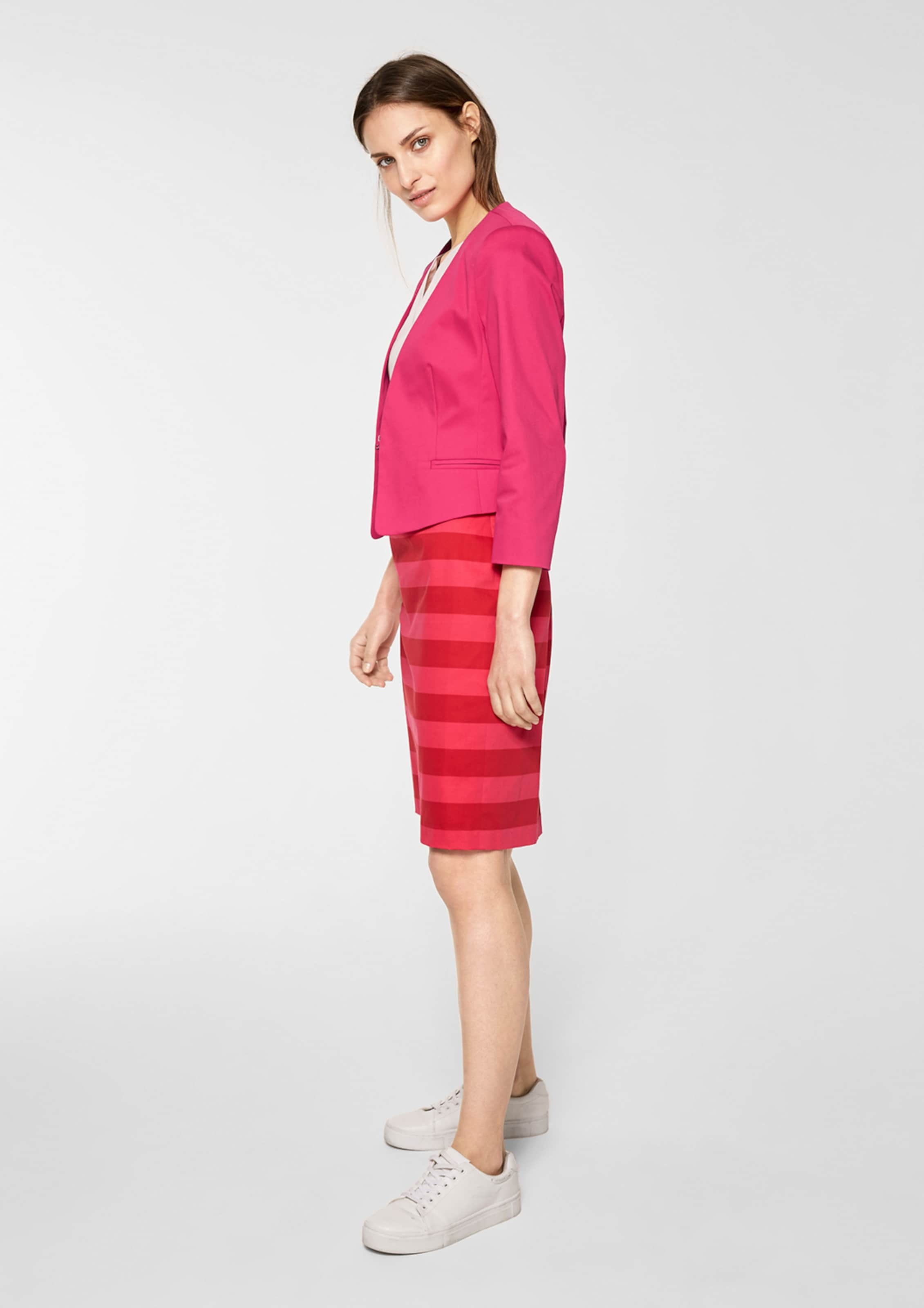 S optik Satin Kurzer Black Blazer Label In Pink oliver qUMzVpS