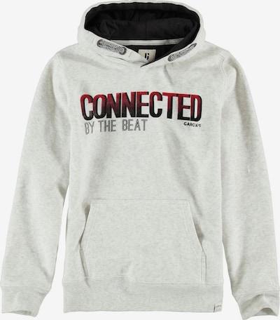 GARCIA Sweatshirt in rot / schwarz / weißmeliert: Frontalansicht