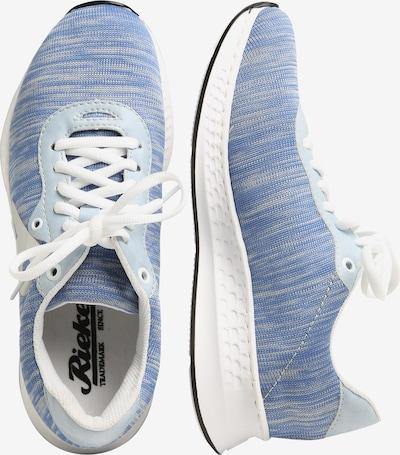 RIEKER Sneaker in rauchblau / weiß: Seitenansicht