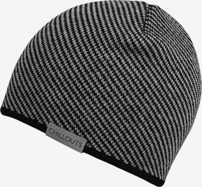 chillouts Mütze 'Leander' in basaltgrau / schwarz, Produktansicht