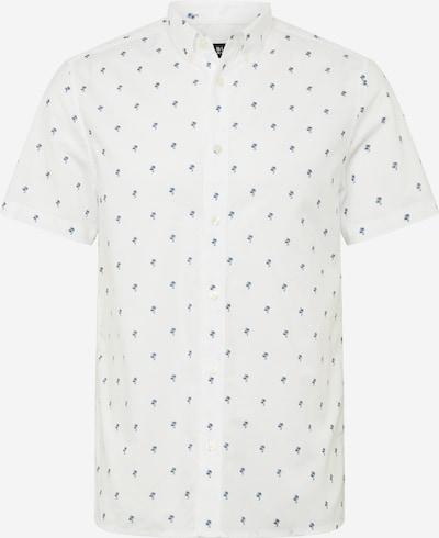 BURTON MENSWEAR LONDON Koszula 'SS WHT ORG PALM PRNT' w kolorze białym: Widok z przodu
