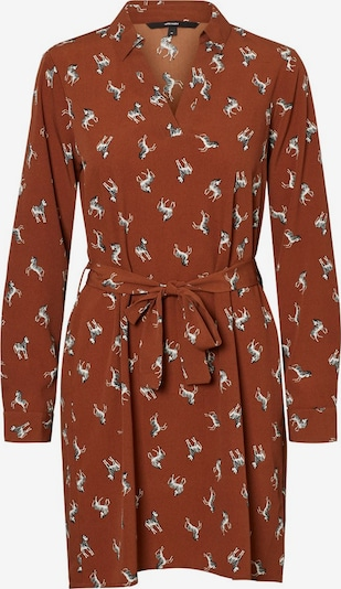 Vero Moda Curve Kleid in ocker / schwarz / weiß, Produktansicht