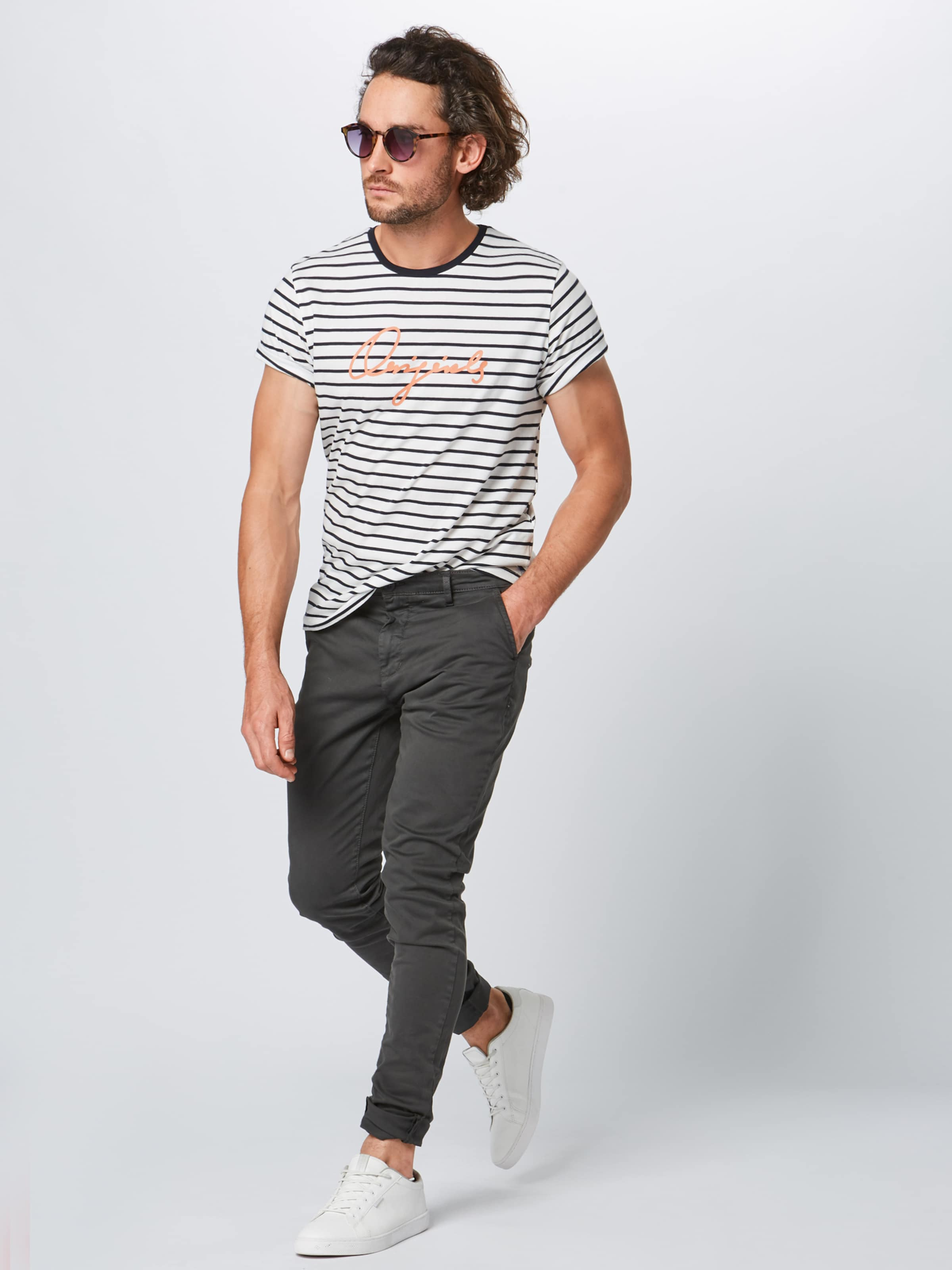 Shirt Offwhite In DunkelblauRostrot Jackamp; Jones 'charlie' sQrChdt