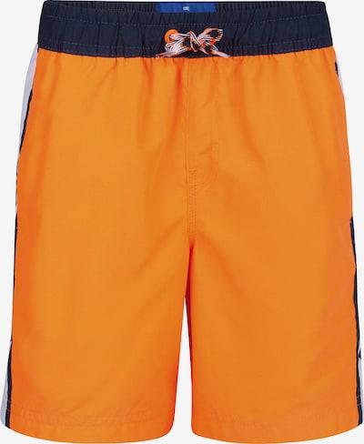 WE Fashion Badeshorts 'Julian' in orange / schwarz, Produktansicht