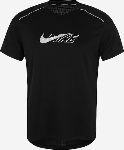 NIKE Shirt 'Miler' in schwarz / silber, Produktansicht
