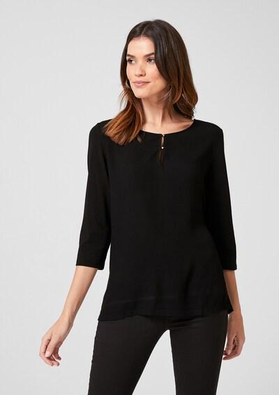 s.Oliver BLACK LABEL Blusenshirt in schwarz, Modelansicht