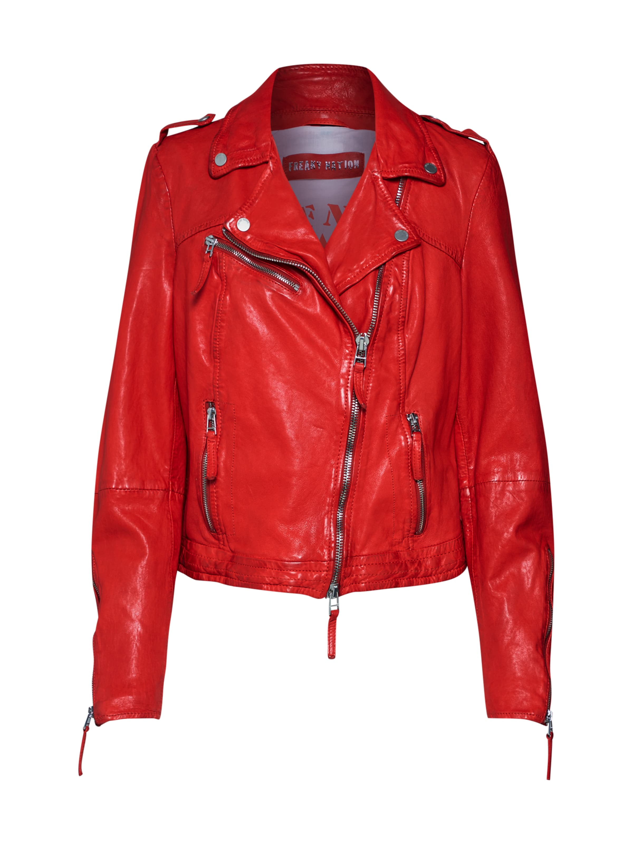 Freaky In Rot Nation Lederjacke 'idol' L43jc5qARS